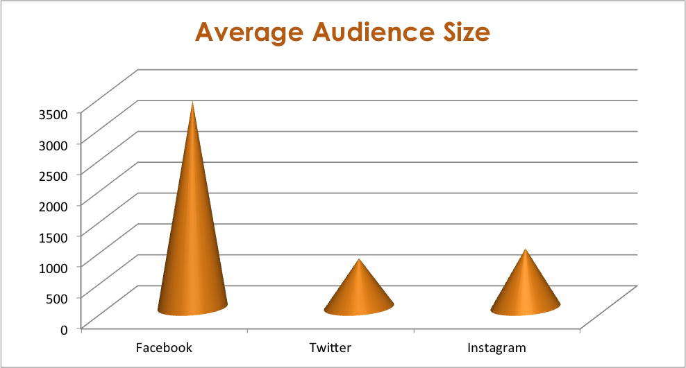 Average Social Media Audience Size By Channel